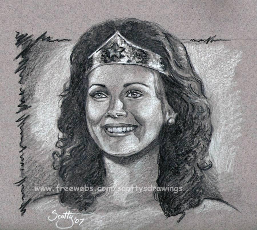 Lynda Carter as Wonder Woman by scotty309