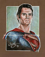 Superman Quick Sketch (2013) by scotty309