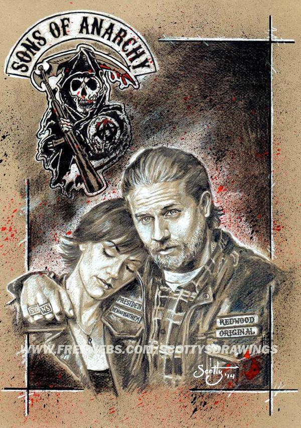 Sons Of Anarchy - Jax And Tara (2014) by scotty309