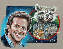 Bradley Cooper And Rocket Raccoon (2015) by scotty309