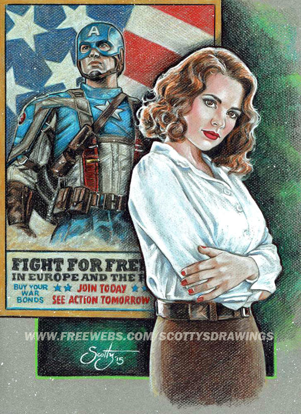 CAPTAIN AMERICA - AGENT CARTER 2015 by scotty309
