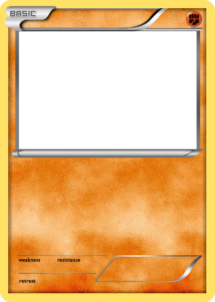 Bw Fighting Basic Pokemon Card Blank By The Ketchi On