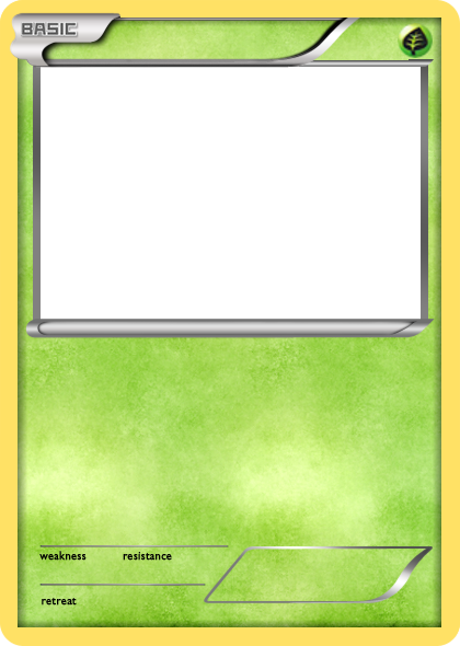 bw grass basic pokemon card blank by the