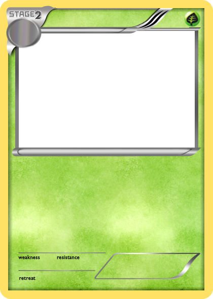 Bw Grass Stage 2 Pokemon Card Blank By The Ketchi On