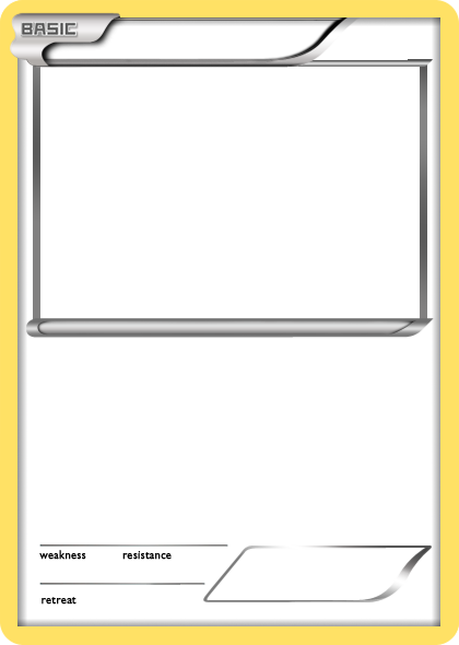 Blank pokemon cards printable pictures to pin on pinterest for Pokemon templates print
