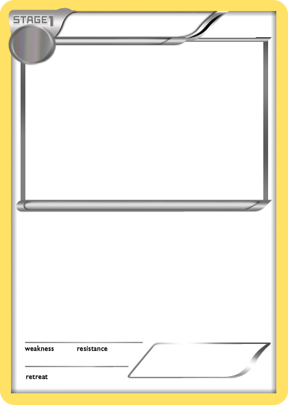 pokemon templates print - bw untextured black stage 1 pokemon card blank by the