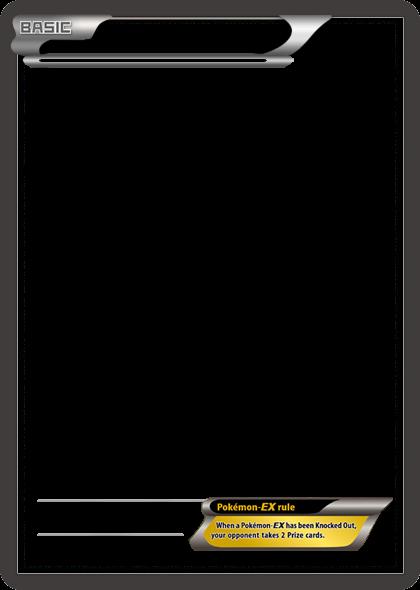 bw pokemonex no text card blank templatetheketchi on