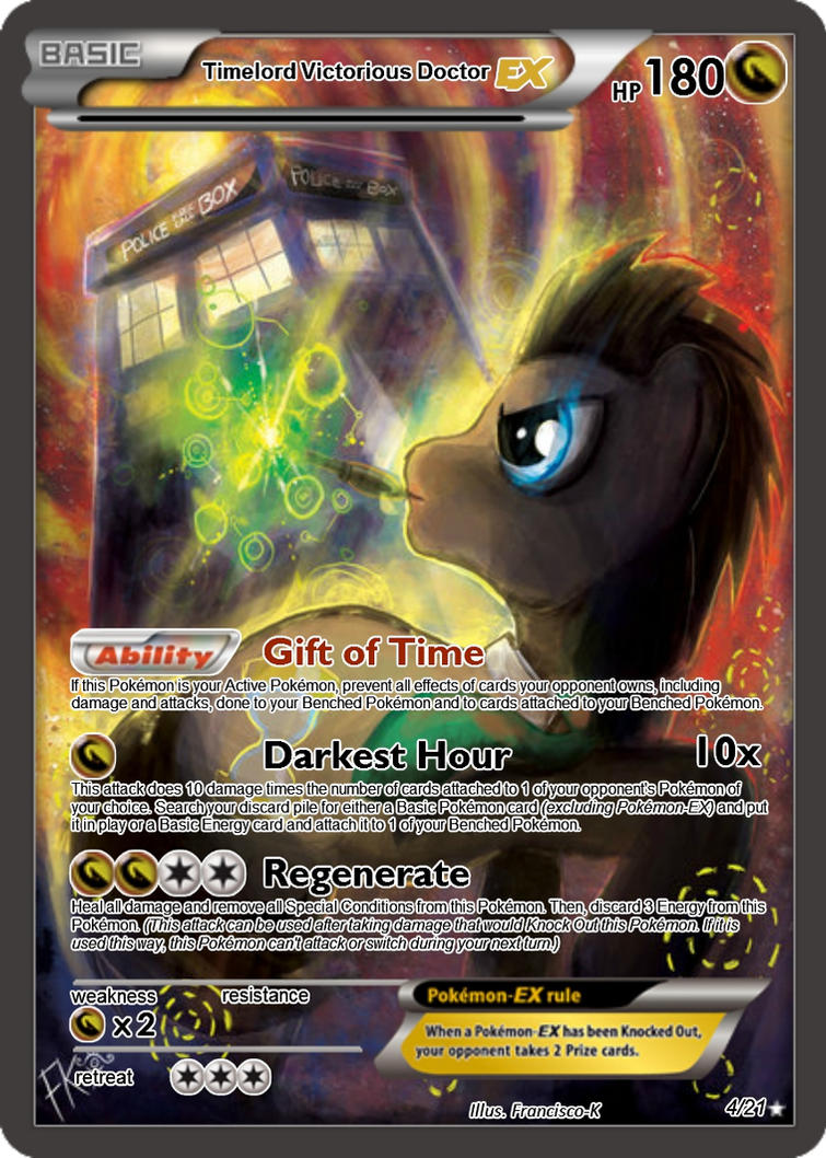 Timelord Victorious Doctor-EX Pokemon card by The-Ketchi