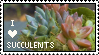Succulent Stamp by Somniculosa