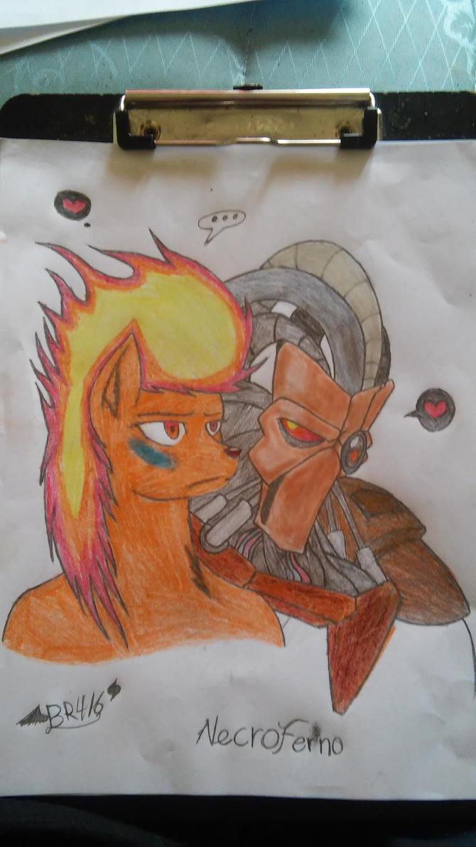 My nostalgic couple by Blackrose416