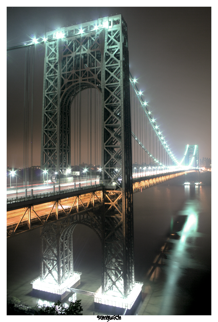 George Washington Bridge HDR by Sangwich