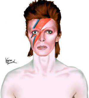 David Bowie digital drawing