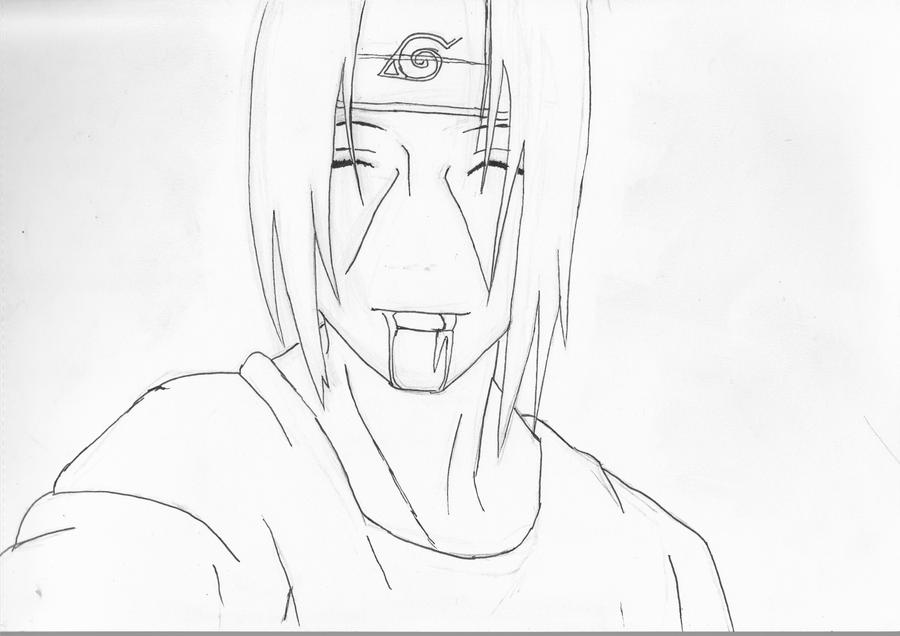 itachi uchiha line art by negative creeq