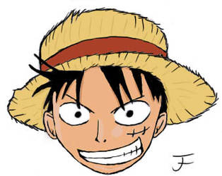 Luffy's head Colored by JFT93