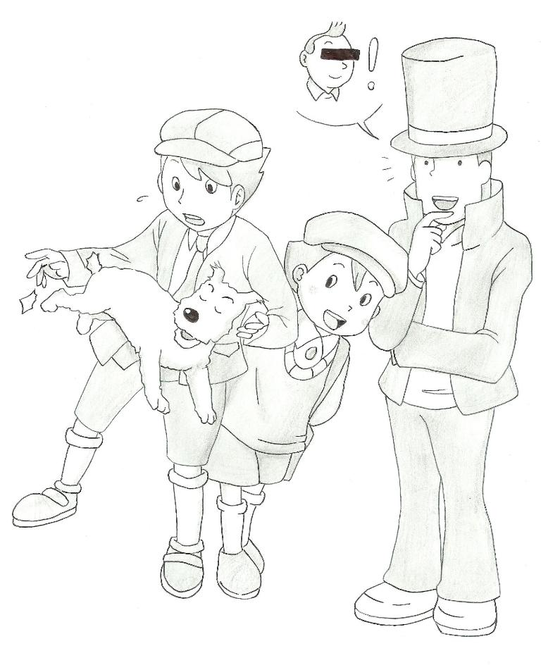 Professor Layton:That reminds me a trip in Belgium by Blychee