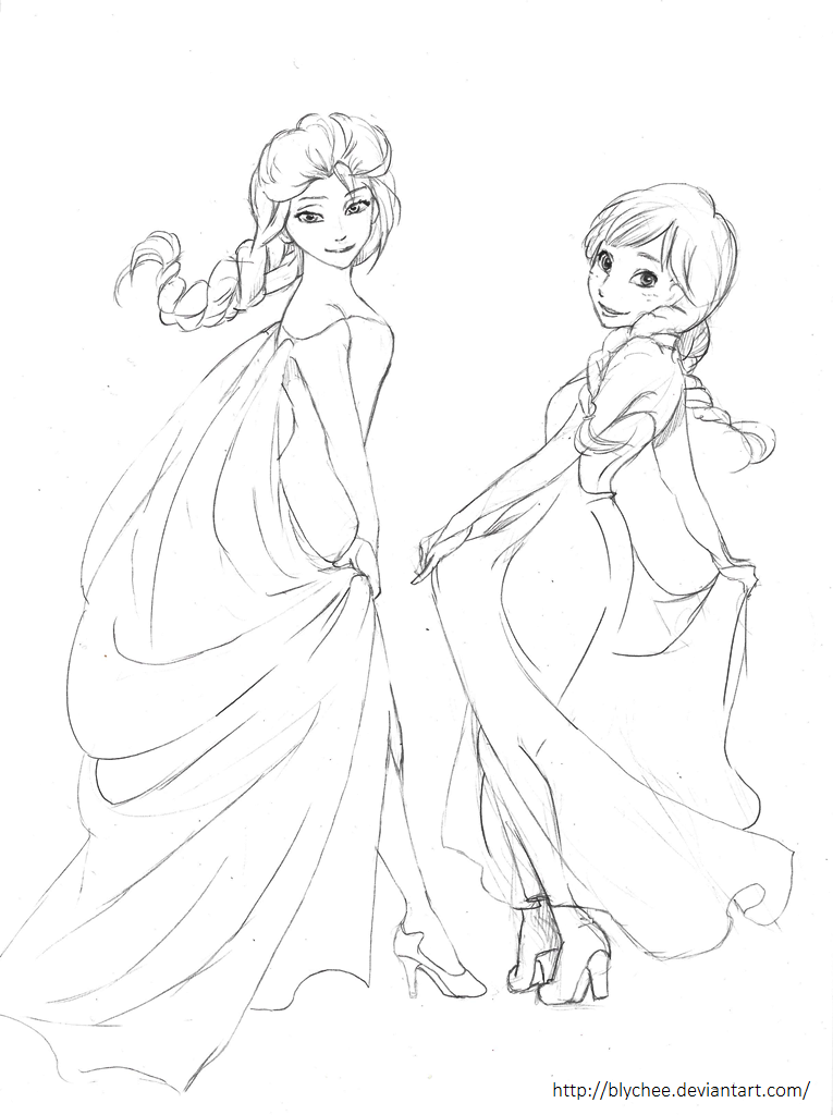 how to draw princess elsa frozen