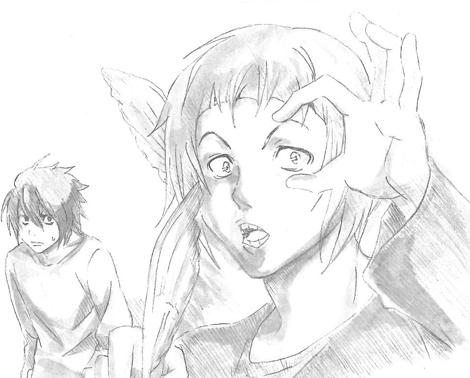 Death Note*Bakuman - L and Niizuma by Blychee