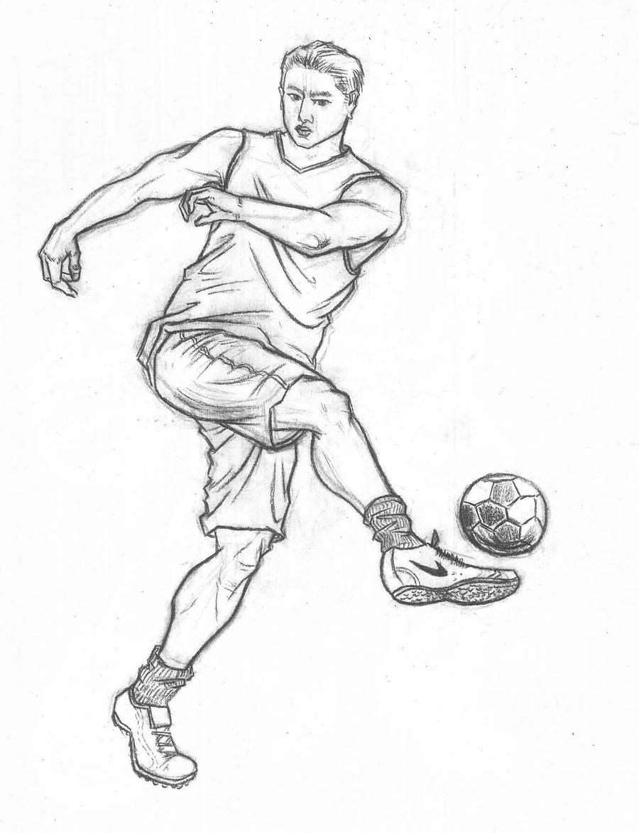 sketch sports football fast movements drawings sketches deviantart