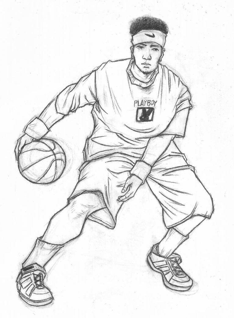 Fast sketch of sports movements-basketball by THB886Basketball Drawings Step By Step