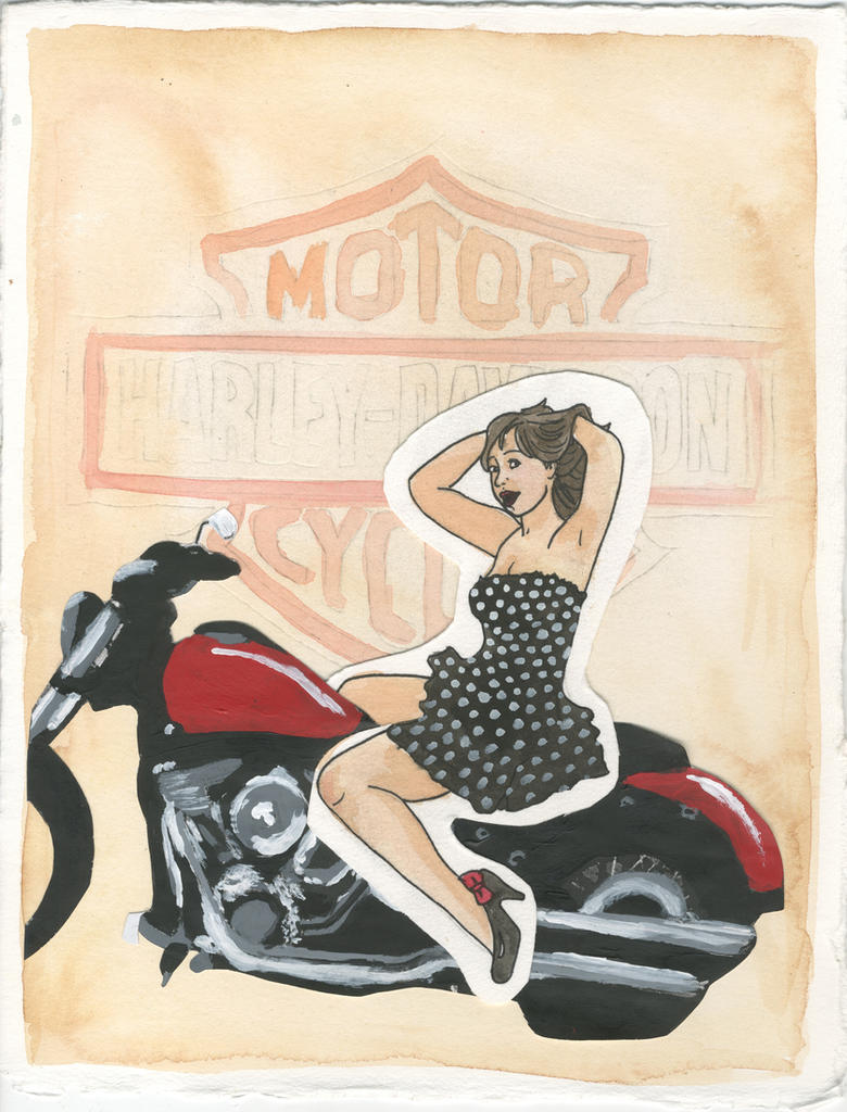 Harley davidson pin up by hogwartshobbitjedi on deviantart harley davidson pin up by hogwartshobbitjedi freerunsca Images