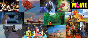 My Fav. animated movies screenshot collage part 1