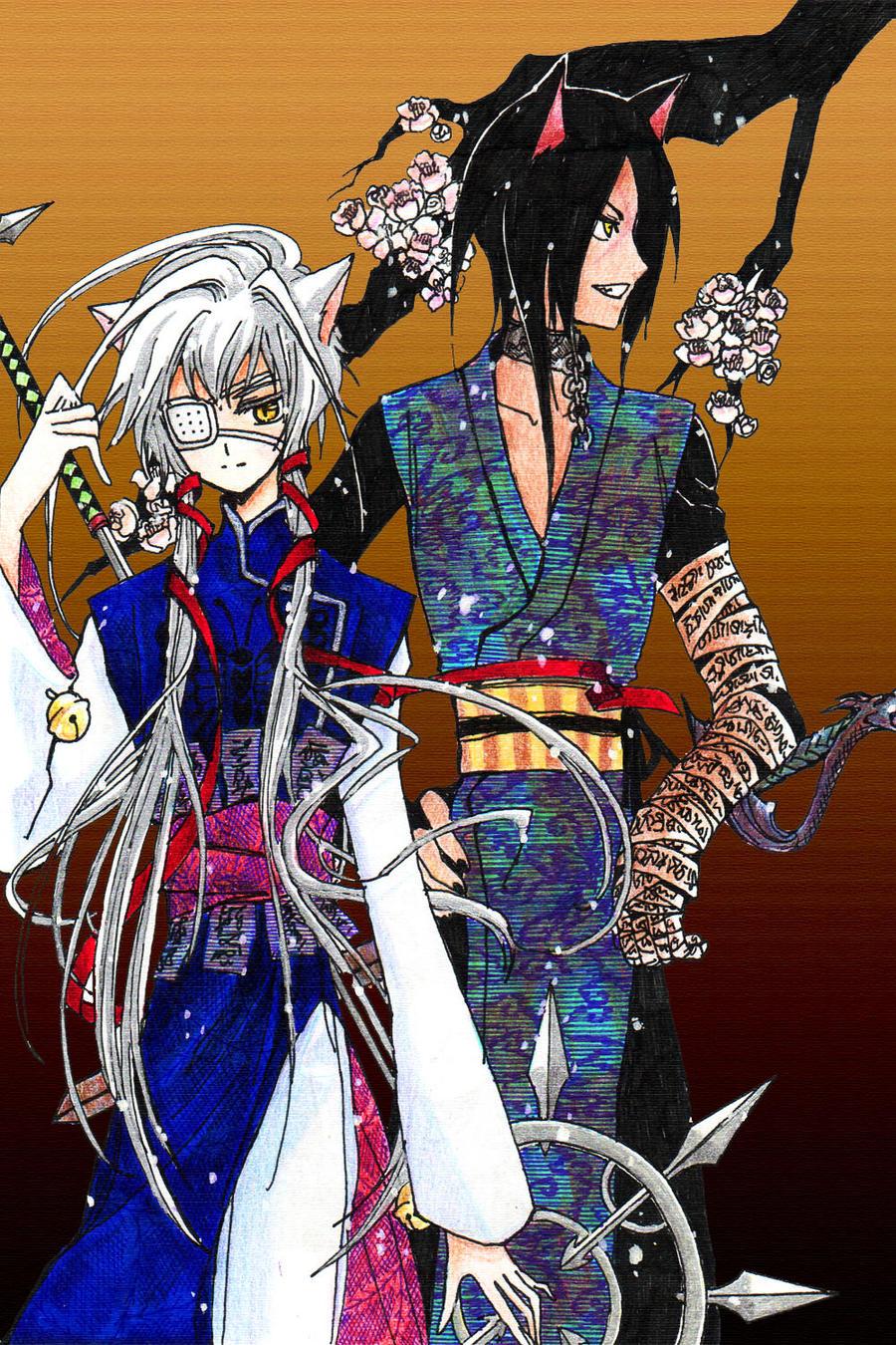Kitsune and Inugami by Cioccolatodorima on DeviantArt