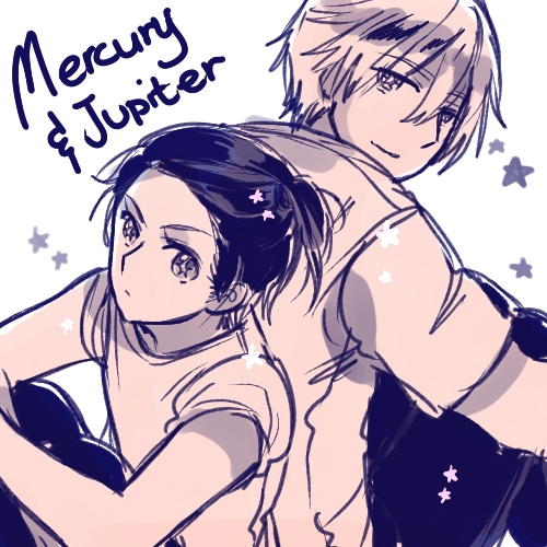 Jupiter and Mercury by ROSEL-D