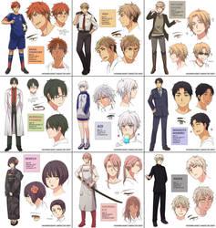 Shounen Heart  Character Sheets by Cioccolatodorima