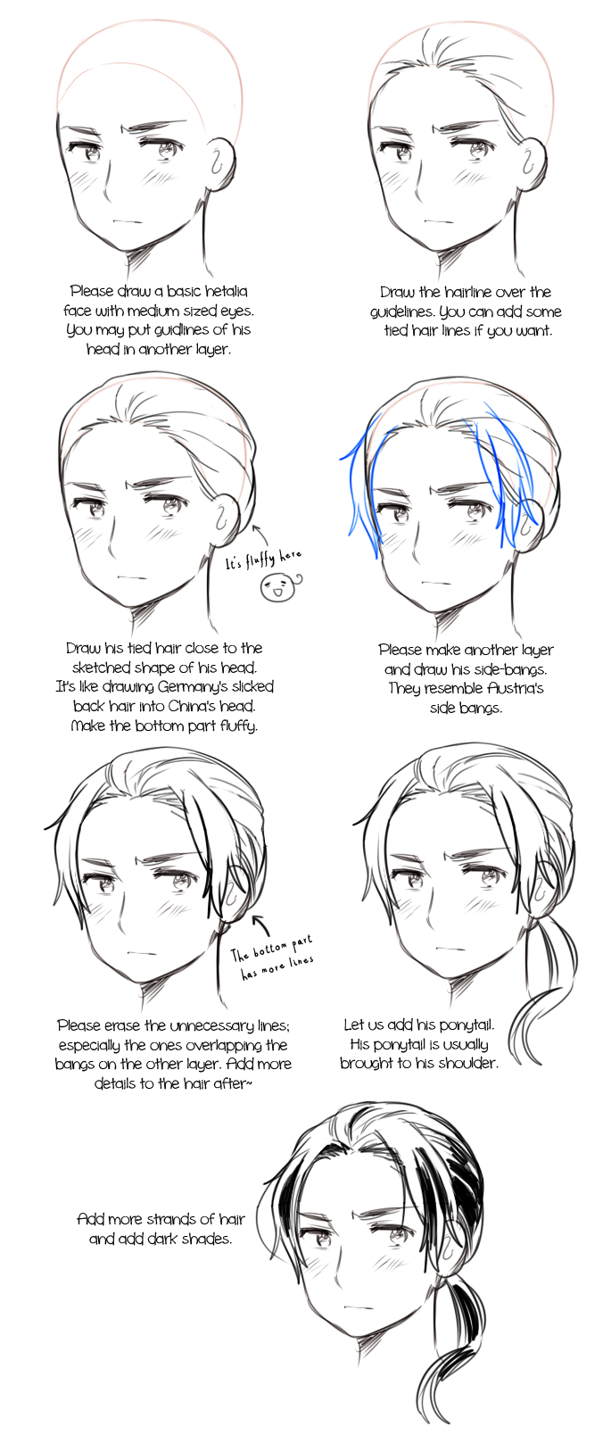 how to draw upside down anime hair