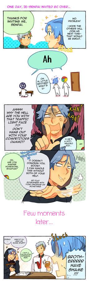 Spartan-kun and Chrome