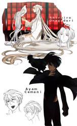 Plume Parade : Shiroiro Onagadori and Ayam Cemani