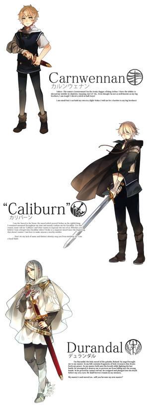 Seiken Ranbu: Carnwennan, Caliburn and Durandal