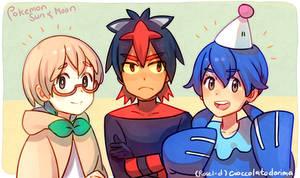 Pokemon Sun and Moon Trio