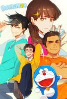 Sparkly Doraemon by Cioccolatodorima