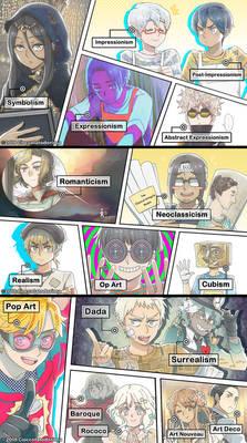 Art Movement Gijinka Anime?!?