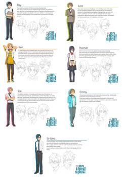 Shounen Competitive Drawing- Character Sheets