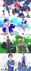 Drinks as Anime Dudes! Pt.2 by Cioccolatodorima