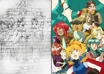 Old Comic as Old Anime by Cioccolatodorima