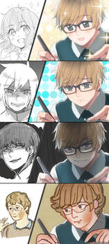 Having the same expression as your drawing