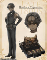 Vintage Typewriter Danshi: Bar-lock Typewriter by Cioccolatodorima