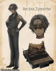 Vintage Typewriter Danshi: Bar-lock Typewriter