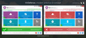 Modern Antivirus UI Concept - VirDefense