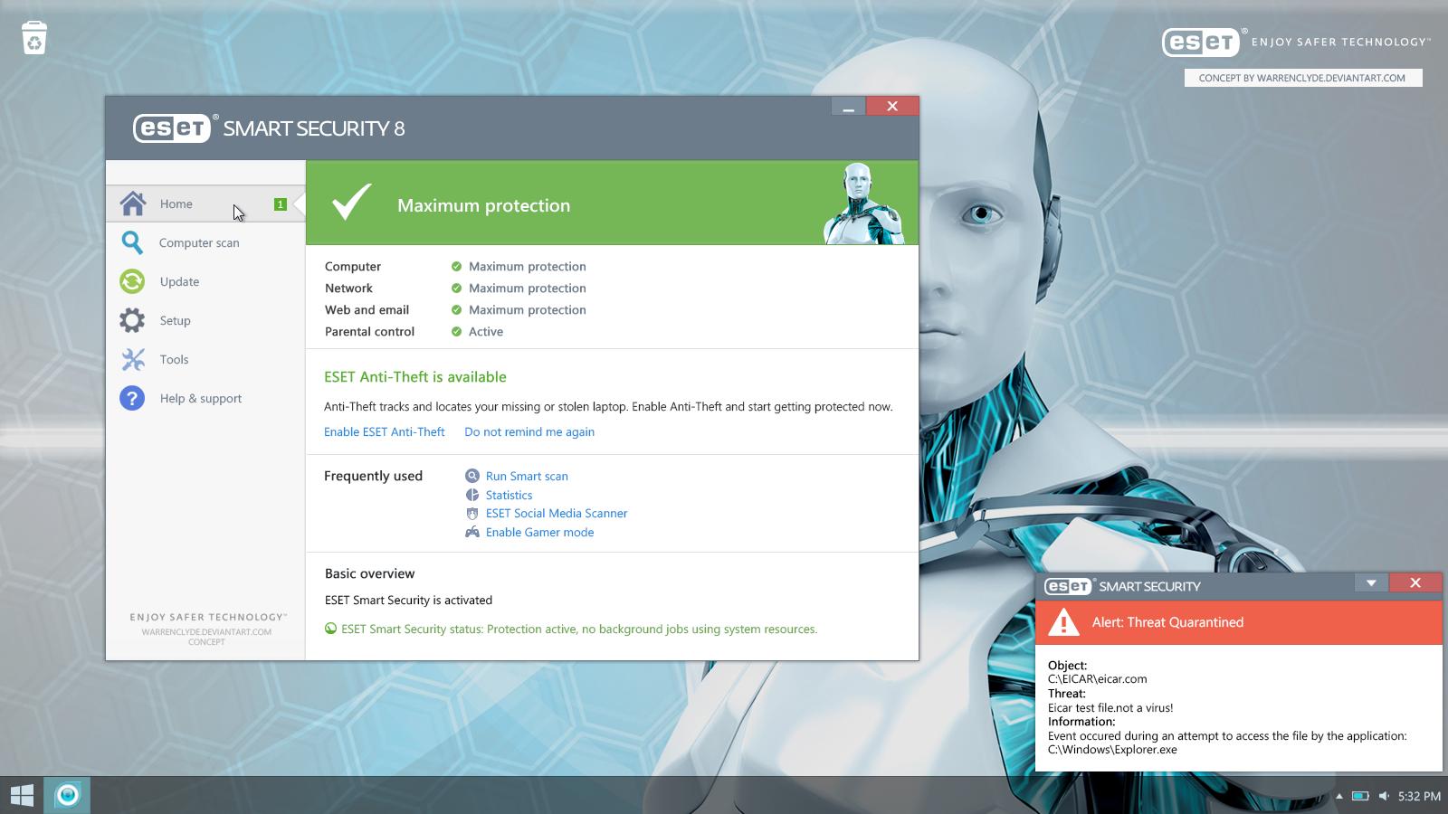 eset smart security antivirus activation key