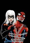 Spider-Man/Black Cat - Batgirl 41 homage