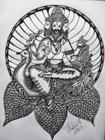 Lord Brahma by ShallsArt
