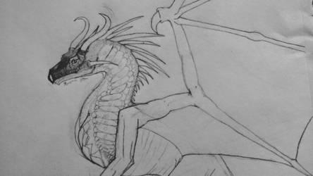 Dragon Sketch by GlassScale