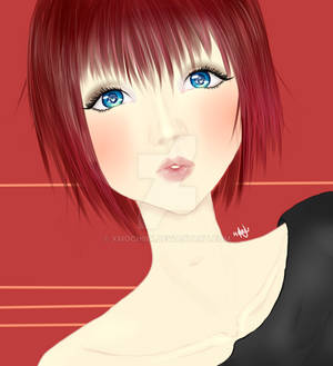 Lady blue eyes.