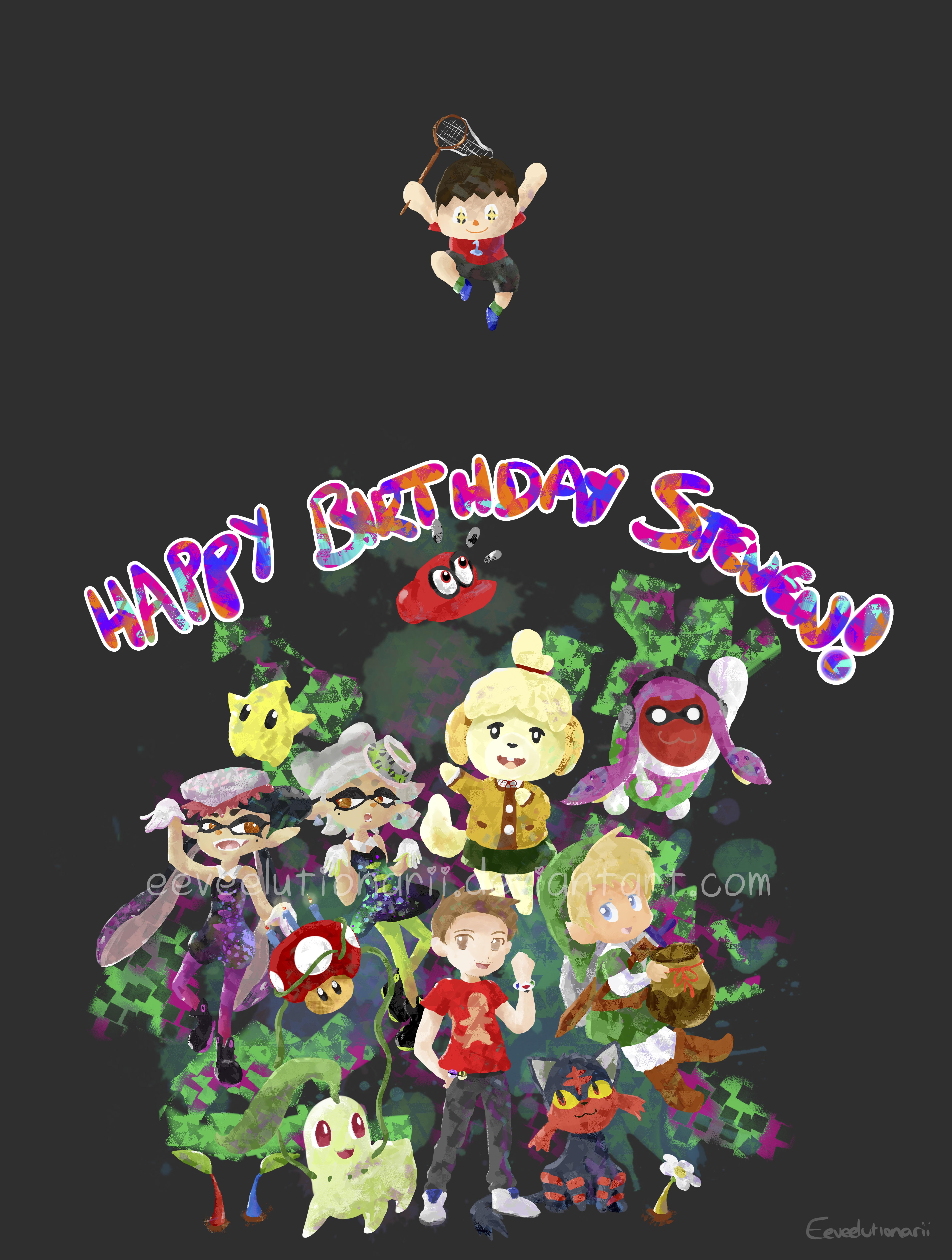 Nintendo Birthday Madness! -Splatoon Style by Eeveelutionarii