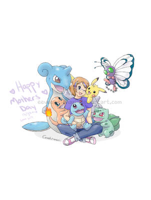 Mothers Day Pokemon Team by Eeveelutionarii
