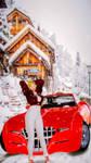 Helena travel to winter Austria mountain by valkovrgor